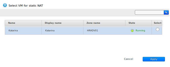 Select VM NAT