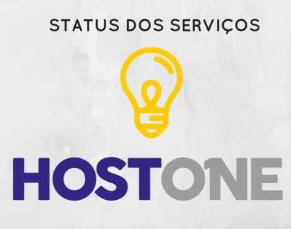 Painel de Status dos serviços Host One